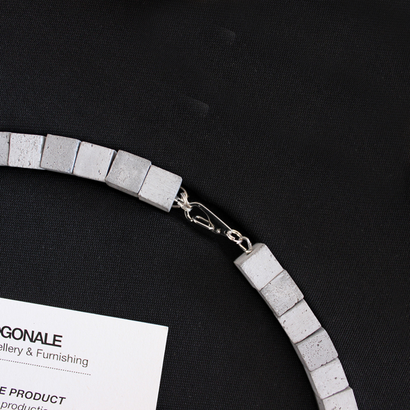 Concrete jewelry by ORTOGONALE. Necklace, chain mod. CLCNN